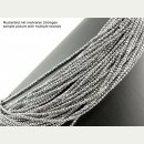 Hematite strand- faceted 3 mm silver, 40 cm /4714