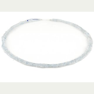 Oval Ohne Verschluss facettierte Aquamarin Stränge