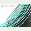 Amazonite strand - faceted spheres 3 mm mint, length 38.5...