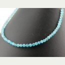 Apatite strand - faceted spheres 4 mm bright blue /1769