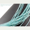 Apatite strand - faceted spheres 3 mm aqua blue, length...