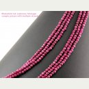 Ruby strand - faceted spheres 4 mm ruby red, length 39.5...