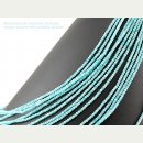 Amazonite strand - faceted rondelles 2x3 mm light blue,...