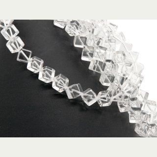 Rock crystal strand - cubes 10 mm transparent, length 40 cm /4667