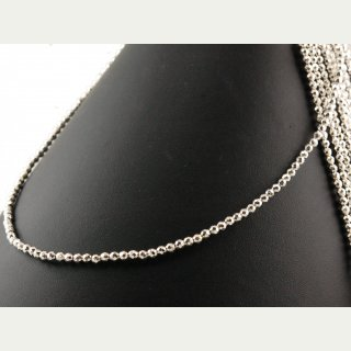 Hematite strand - faceted spheres 3 mm silver, length 40 cm /1283