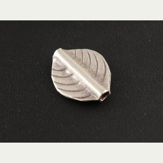 925 silver spacer bead - leaf 14x17 mm, for threading /3179