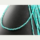 Amazonite strand - faceted spheres 3 mm sky blue, length...