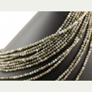 Labradorite strand - faceted spheres 4 mm grey,...