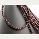Jasper strand - spheres 7 mm dark red, length 38.5 cm /4221