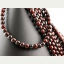Jasper strand - spheres 8 mm dark red, length 39 cm /4223