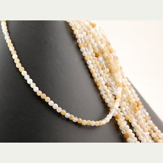 Yellow opal strand - spheres 4 mm shades of honey, length 40 cm /4206