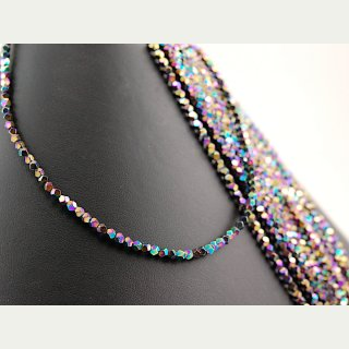 Hematite strand - faceted spheres 3 mm multicolor, length 40 cm /4098