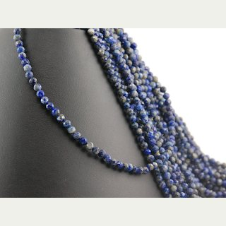 Lapis strand - faceted spheres 4 mm royal blue, length 38 cm /1296