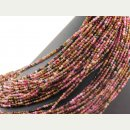 Tourmaline strand - faceted spheres 3 mm multicolor,...