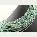 Amazonite strand - faceted spheres 4 mm blue, length 38.5...