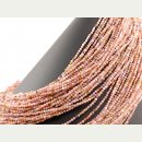 Pink opal strand - faceted spheres 2.5 mm pink, length 39...