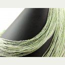 Green garnet strand - faceted spheres 3 mm bright green...