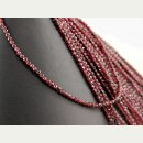 Garnet strand - faceted spheres 3 mm dark red, length...