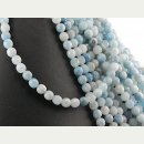 Aquamarine strand - faceted spheres 7 mm sky blue, length...