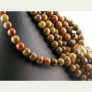 Warring state agate strand - spheres 10 mm red and sand,...