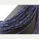 Sodalite strand faceted sphere - 4 mm  blue 39cm/2065