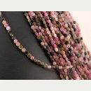 Turmaline strand - faceted disc, 2x4 mm, pink /4213