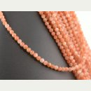 Sunstone strand - faceted spheres 4 mm peach, length 38.5...