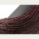 Garnet strand - faceted disc 2x4 mm bordeaux red, length...
