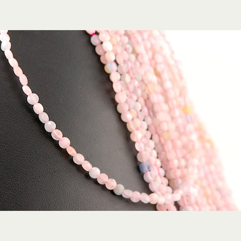 Morganite and Amethyst Custom Made Necklace Faceted Aquamarine