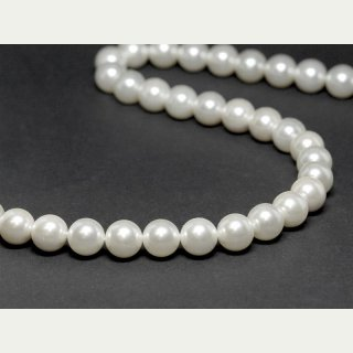 1176/ Shell pearls strand - white, 10 mm - 41 cm