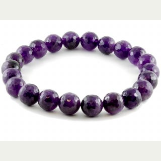 Amethyst Strang - facettiert, 18 mm /1694