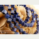 2043/ Lapis strand - cubes, 8 mm, diagonally drilled -...
