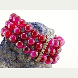 Achat Armband 3reihig, pink / 8693